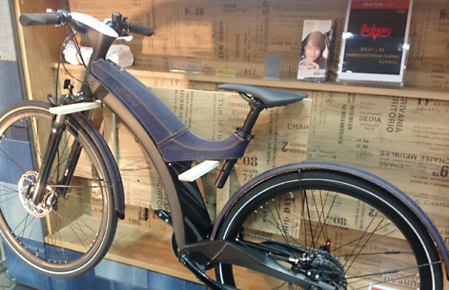 コラボレーション:電動アシスト自転車デニムモデル