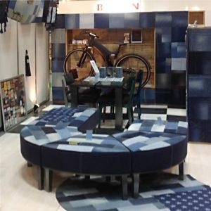 ボブソンデニム家具、展示会