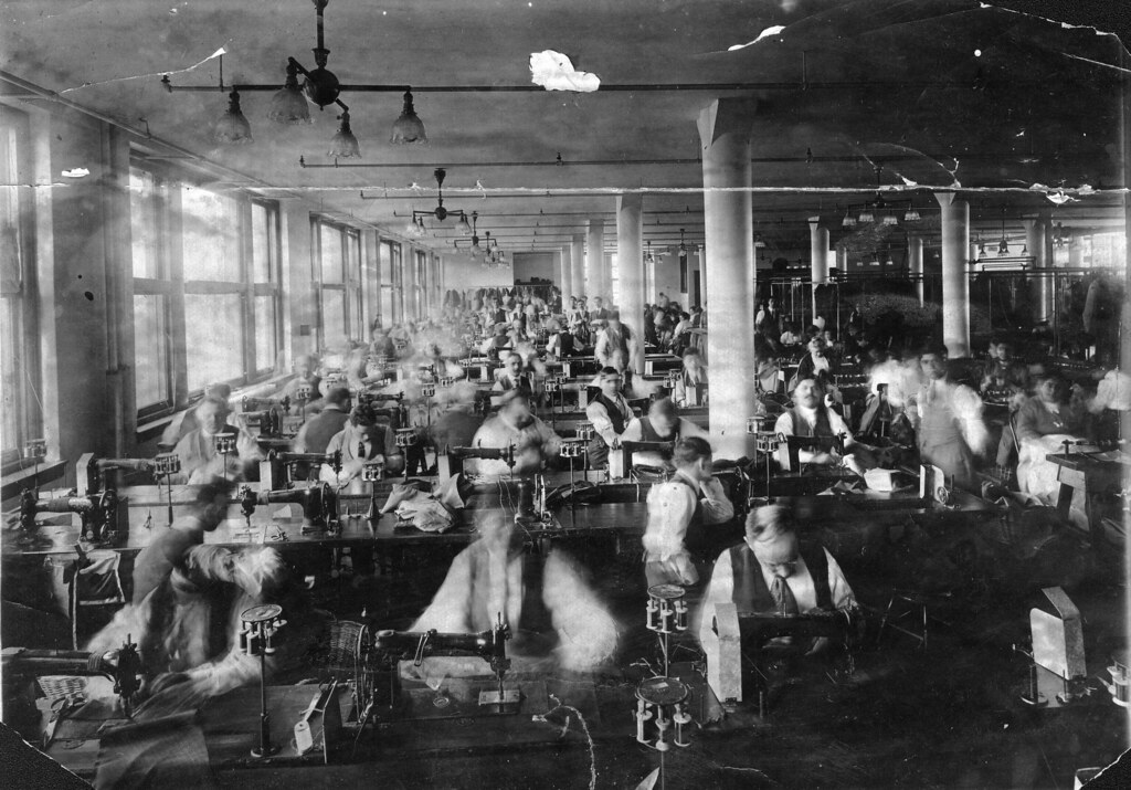 1950年代 縫製工場 ユニオンスペシャル チェーンステッチ
